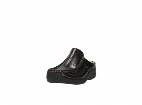 wolky clogs 06202 roll slide 90300 brown craquele leather_21