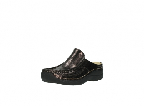 wolky clogs 06202 roll slide 90300 brown craquele leather_22