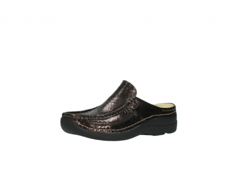 wolky clogs 06202 roll slide 90300 brown craquele leather_23
