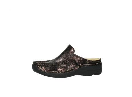 wolky clogs 06202 roll slide 90300 brown craquele leather_24