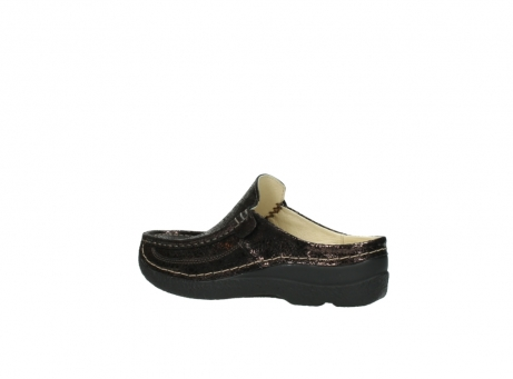 wolky clogs 06202 roll slide 90300 brown craquele leather_3