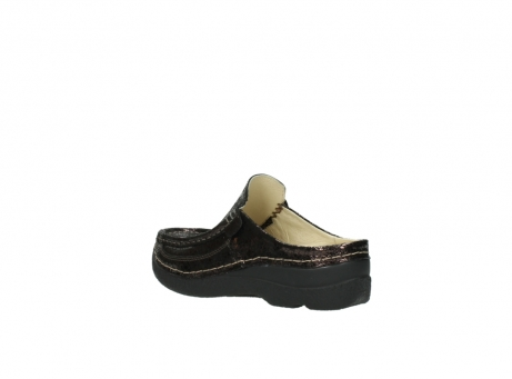 wolky clogs 06202 roll slide 90300 brown craquele leather_4