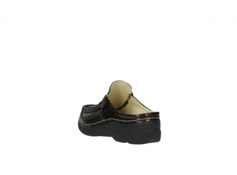 wolky clogs 06202 roll slide 90300 brown craquele leather_5