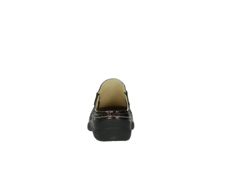wolky clogs 06202 roll slide 90300 brown craquele leather_7