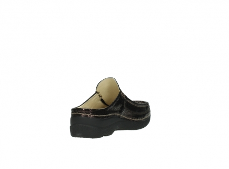 wolky clogs 06202 roll slide 90300 brown craquele leather_9