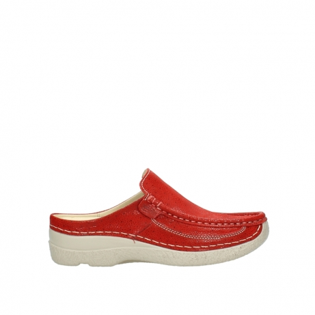 wolky clogs 06202 roll slide 90570 rot dots nubuck