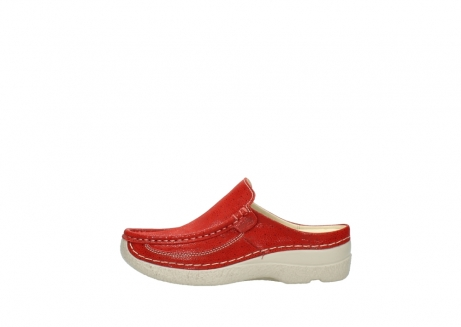 wolky clogs 06202 roll slide 90570 rot dots nubuck_1