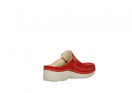wolky clogs 06202 roll slide 90570 rot dots nubuck_10
