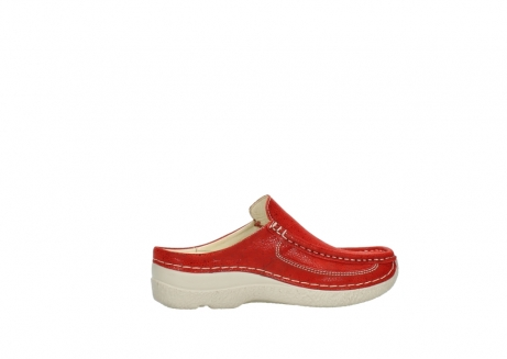 wolky clogs 06202 roll slide 90570 rot dots nubuck_12