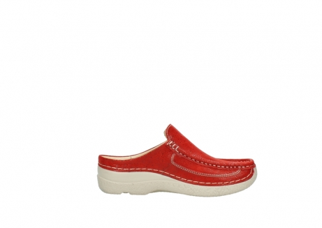 wolky clogs 06202 roll slide 90570 rot dots nubuck_13
