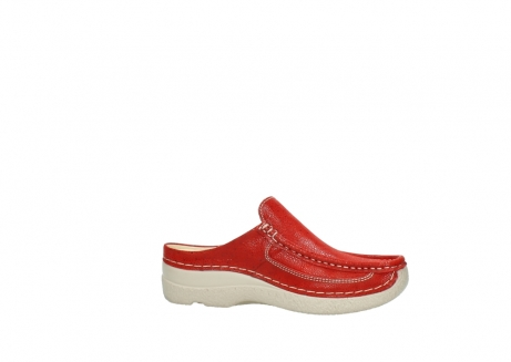 wolky clogs 06202 roll slide 90570 rot dots nubuck_14