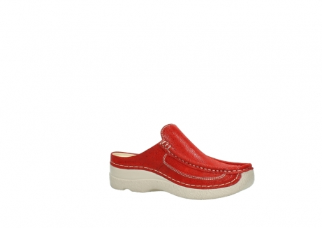 wolky clogs 06202 roll slide 90570 rot dots nubuck_15