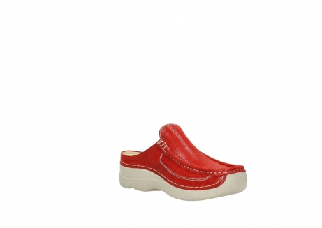 wolky clogs 06202 roll slide 90570 rot dots nubuck_16
