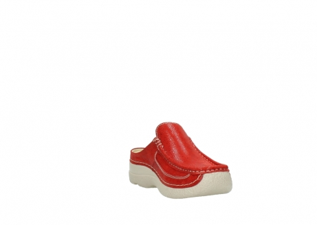 wolky clogs 06202 roll slide 90570 rot dots nubuck_17