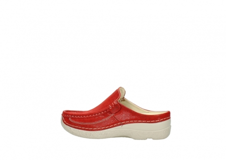 wolky clogs 06202 roll slide 90570 rot dots nubuck_2