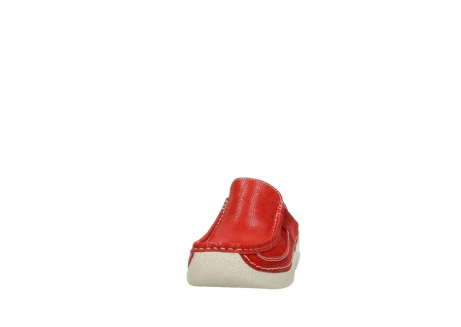 wolky clogs 06202 roll slide 90570 rot dots nubuck_20