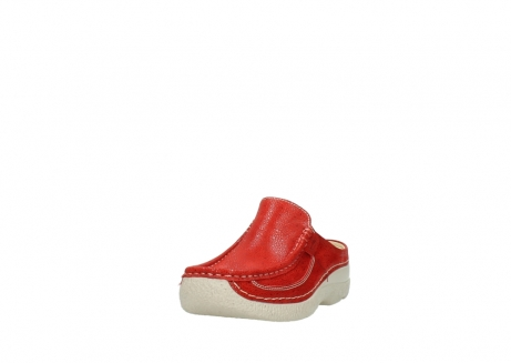 wolky clogs 06202 roll slide 90570 rot dots nubuck_21