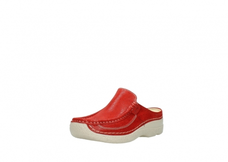 wolky clogs 06202 roll slide 90570 rot dots nubuck_22