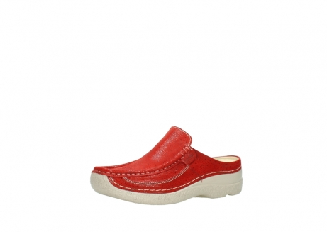 wolky clogs 06202 roll slide 90570 rot dots nubuck_23