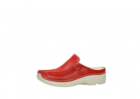 wolky clogs 06202 roll slide 90570 rot dots nubuck_24