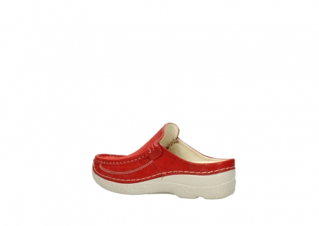 wolky clogs 06202 roll slide 90570 rot dots nubuck_3