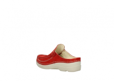 wolky clogs 06202 roll slide 90570 rot dots nubuck_4