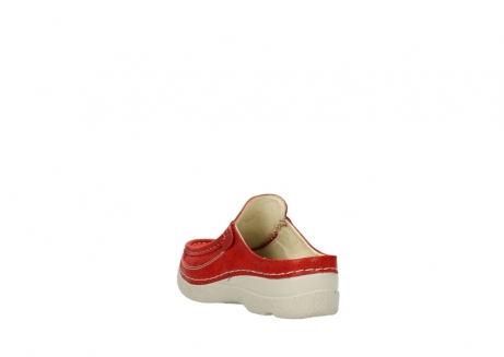 wolky clogs 06202 roll slide 90570 rot dots nubuck_5