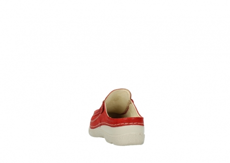 wolky clogs 06202 roll slide 90570 rot dots nubuck_6