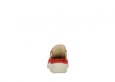 wolky clogs 06202 roll slide 90570 rot dots nubuck_7