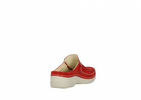 wolky clogs 06202 roll slide 90570 rot dots nubuck_9