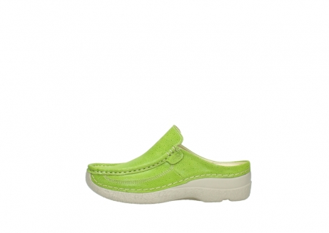 wolky clogs 06202 roll slide 90750 lime dots nubuck_1