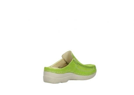 wolky clogs 06202 roll slide 90750 lime dots nubuck_10