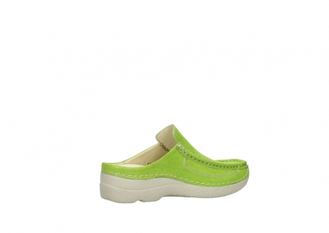 wolky clogs 06202 roll slide 90750 lime dots nubuck_11
