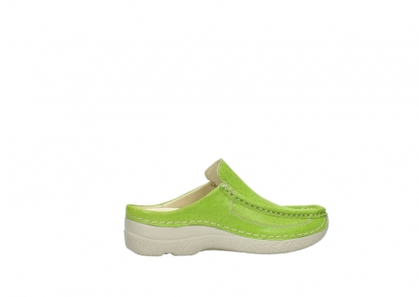 wolky clogs 06202 roll slide 90750 lime dots nubuck_12