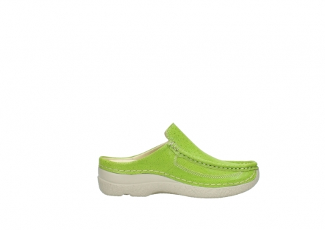 wolky clogs 06202 roll slide 90750 lime dots nubuck_13