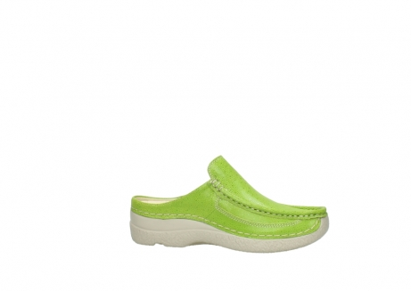 wolky clogs 06202 roll slide 90750 lime dots nubuck_14