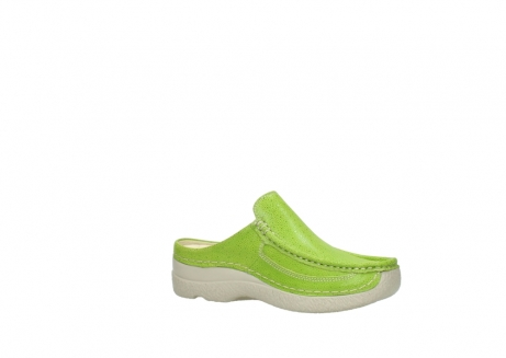 wolky clogs 06202 roll slide 90750 lime dots nubuck_15