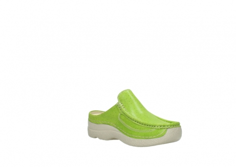 wolky clogs 06202 roll slide 90750 lime dots nubuck_16