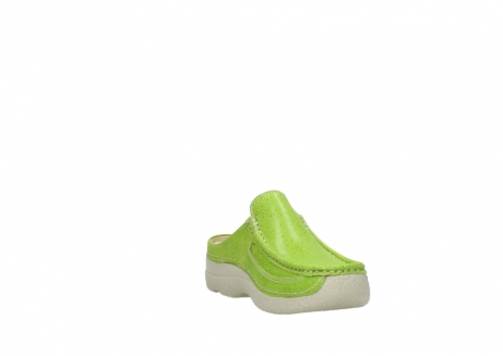 wolky clogs 06202 roll slide 90750 lime dots nubuck_17