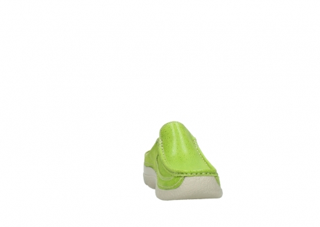 wolky clogs 06202 roll slide 90750 lime dots nubuck_18