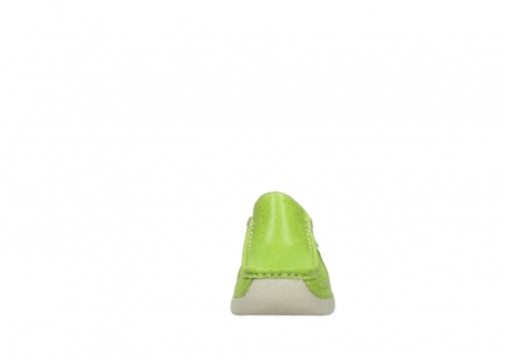 wolky clogs 06202 roll slide 90750 lime dots nubuck_19