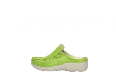wolky clogs 06202 roll slide 90750 lime dots nubuck_2