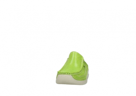wolky clogs 06202 roll slide 90750 lime dots nubuck_20