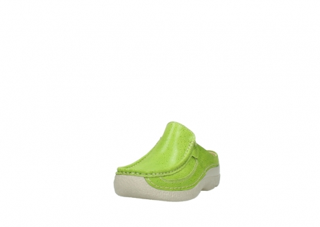 wolky clogs 06202 roll slide 90750 lime dots nubuck_21