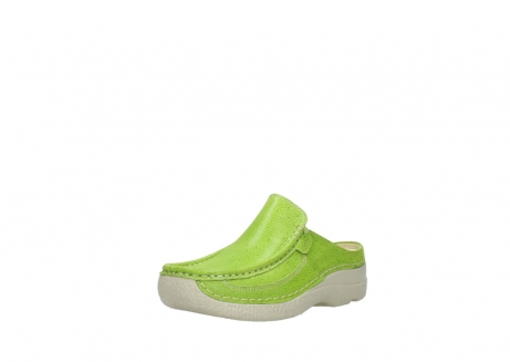 wolky clogs 06202 roll slide 90750 lime dots nubuck_22