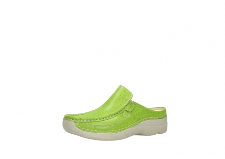 wolky clogs 06202 roll slide 90750 lime dots nubuck_23
