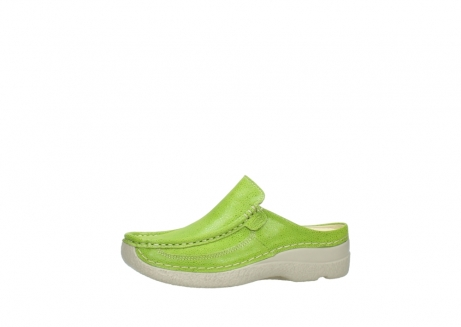 wolky clogs 06202 roll slide 90750 lime dots nubuck_24
