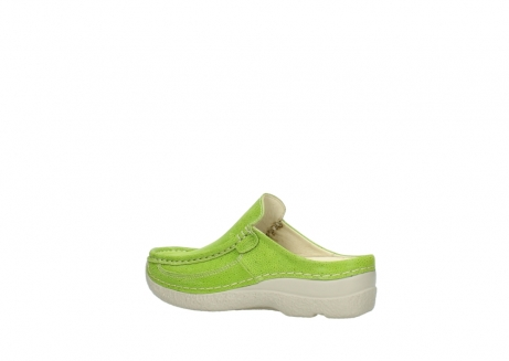 wolky clogs 06202 roll slide 90750 lime dots nubuck_3