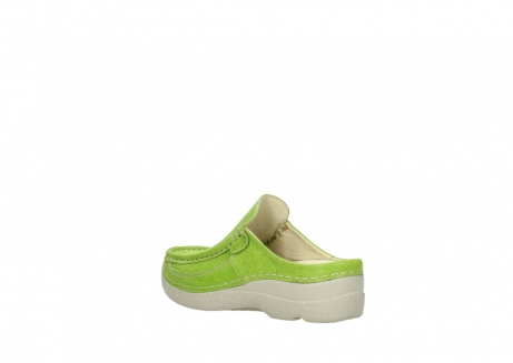 wolky clogs 06202 roll slide 90750 lime dots nubuck_4