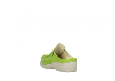 wolky clogs 06202 roll slide 90750 lime dots nubuck_5